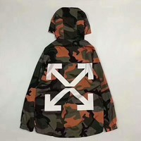 Off white Fashion Camouflage Hooded Zipper Cardigan Sweatshirt Jacket Coat Windbreaker Sportswear I-CN-CFPFGYS