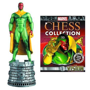 Marvel Avengers Vision White Rook Chess Piece with Collector Magazine #23