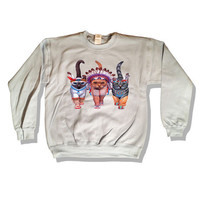 Native American Indian Cats Sweater 043
