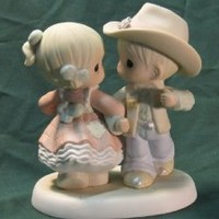 Precious Moments Praise the Lord and Dosie-Do Figurine