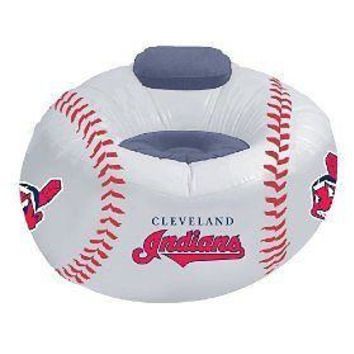 Cleveland INDIANS Large Inflatable Air CHAIR w/Pump