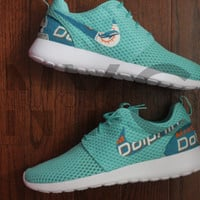 Nike Roshe Run BR Calypso Miami Dolphins Football Custom Men