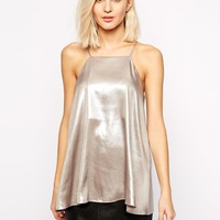 River Island | River Island Metallic Shoe String Tank at ASOS