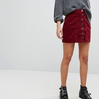 Stradivarius Cord A Line Skirt at asos.com