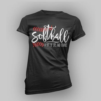 Softball Team Shirts/ Cute Softball Shirt Design/ Softball Life/ Softball Girl/Softball Design