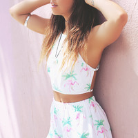 Casual Print Two-Piece  Set