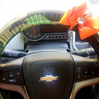 Camouflauge Steering Wheel Covers with Your choice of Bow