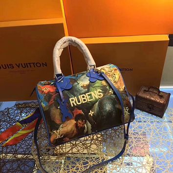 LV Louis Vuitton WOMEN'S CANVAS SPEEDY 30 HANDBAG SHOULDER BAG