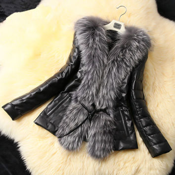 aliexpress uk sale fashion clothes women winter warm faux leather fur coat jackets overcoat abrigos mujer jaqueta couro vestidos
