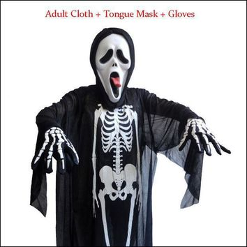 Halloween Adult And Kids Parties Costume Props Skull Skeleton Ghost Clothes Decoration
