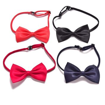 Children Adjustable Accessories Cute Kids Boys Bow Tie Solid Color Bowknot For Wedding Lovely Tie Children 1pc