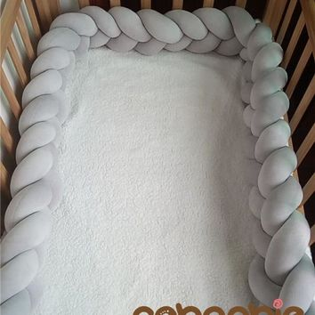 160 cm Baby Braided Crib Bumpers Knot Pillow Cushion,Nursery bedding,cot room dector