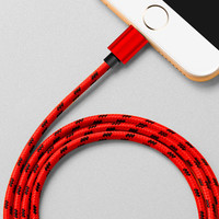 iPhone 7 7 Plus &iPhone 6s 6Plus se 5s Lightning Fabric Braid Cable USB Charger Sync 78in Long +Gift Box