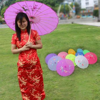 1pc classical dance umbrella Art wedding photography props oiled paper umbrellas  home gift accessories 11 color A35