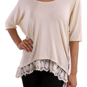 Lined with Lace Top