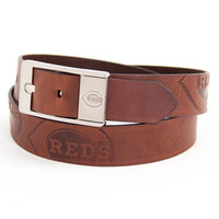 Cincinnati Reds MLB Brandish Leather Belt Size 38