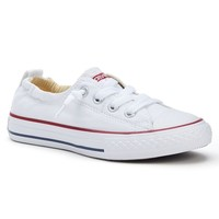 Converse Chuck Taylor All Star Shoreline Slip-On Sneakers for Girls (White)