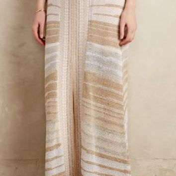 Glinted Knit Skirt by Cecilia Prado Neutral Motif