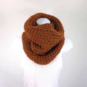Chunky Cowl /MAHAGONY/, Unisex Cowl Scarf, Men Woman Neck Warmer, Gift Idea
