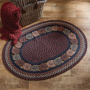 "Set of 2 Inner Circles Oval Braided Rug 32"" x 42"" By Park Design"