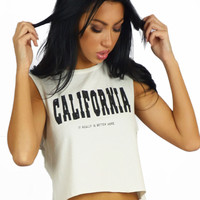 Hips And Hair California - It Really Is Better Here Crop Top