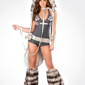 J. Valentine Wolf Romper Costume : Cute Sexy Rave Outfits From RaveReady