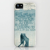 Dancing in the Rain iPhone Case by Ciara Panacchia | Society6