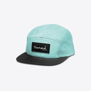 Diamond Nylon 5-Panel Camp Hat in Diamond Blue - 5-PANEL CAPS - HEADWEAR