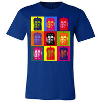 Doctor Who TARDIS Warhol Style Shirt Men's Women's & by Geekcetera
