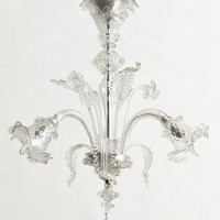 Murano Glass Chandelier by Anthropologie
