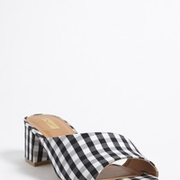 Qupid Gingham Mules