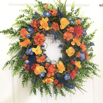 Brightly-Colored Spring/Summer Wreath