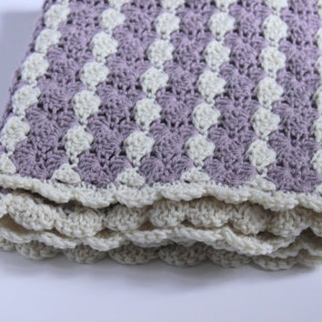 Baby Girl Blanket, Crochet Baby Blanket, Crochet Blanket, Photoshoot Blanket, Purple Baby Blanket
