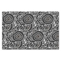 Organic Black & White Repeat Pattern Tissue Paper