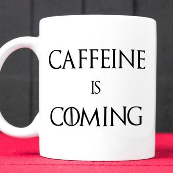 caffeine is coming game of thrones mugs gifts novelty mug cups tea cup ceramic coffee mug tea mugs home decal
