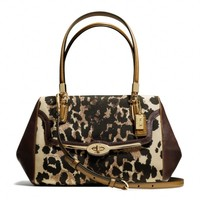Coach :: Madison Small Madeline East/west Satchel In Ocelot Print Fabric