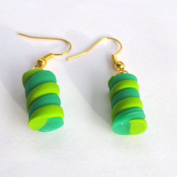 Polymer clay earrings by Malvi9 on Etsy