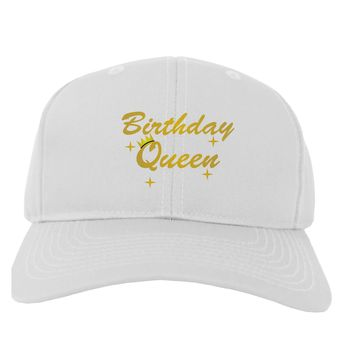 Birthday Queen Text Adult Baseball Cap Hat by TooLoud