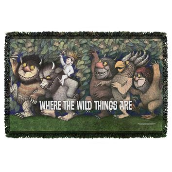 Wild Rumpus Dance Woven Throw Blanket