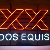 New Dos Equis XX Real Glass Neon Light Sign Home Beer Bar Pub Sign L04