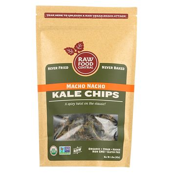 Raw Food Central's Macho Nacho Kale Chips - Case Of 12 - 1.5 Oz