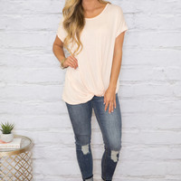 Lost In My Thoughts Blouse Blush
