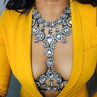 Exquisite Vintage Look Crystal Body Jewelry