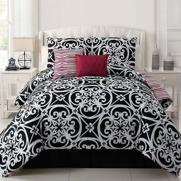 Victoria Classics Kennedy 5-pc. Reversible Comforter Set