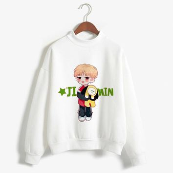 2018 BTS Love Yourself K Pop Women Sweatshirts Hip-Hop Bangtan Boys Jimin Clothes Bt21 Bts Hoodie Turtleneck  Harajuku Clothing