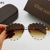 LV Louis Vuitton 2018 new personalized frog mirror sunglasses F-A-SDYJ #4