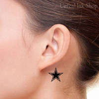 Temporary Tattoo 2 Star Neck   Tattoos