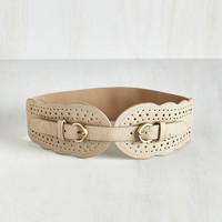 Whatever Floats Your Haute Belt in Beige by ModCloth