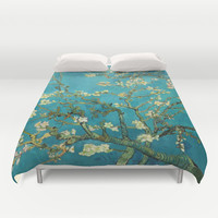 Vincent Van Gogh Blossoming Almond Tree Duvet Cover by Art Gallery