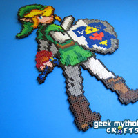 Link Legend of Zelda Ocarina of Time by GeekMythologyCrafts